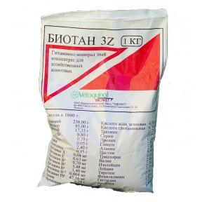 Биотан 3Z 1 кг витам минер добавка для животных Польша