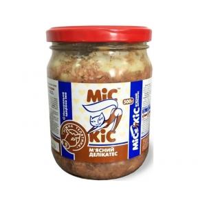 Мис Кис консервы для кошек с мясом телятины 500г