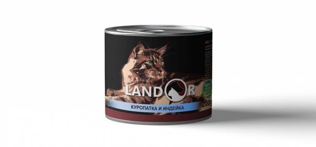 Landor консерва для кошек куропатка с индейкой 200 г 539022