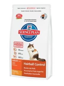 Корм Hills (Хилс) SP Feline Adult Hairball Control для взрослых кошек выведение комков шерсти с курицей