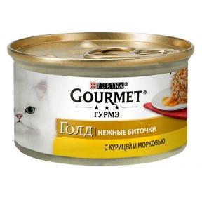 Gourmet Gold БИТОЧКИ с курицей и морковью
