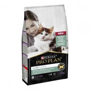 Pro Plan LiveClear Kitten Turkey Сухой корм для котят для уменьшения аллергенов на шерсти с индейкой  1,4кг