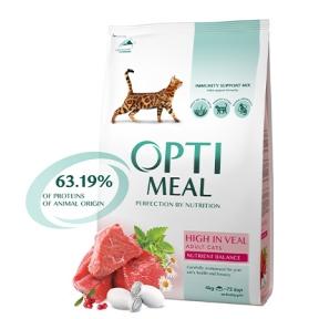 Optimeal с телятиной для котов