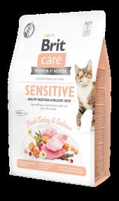 Brit Care Cat Sensitive Healthy Digestion & Delicate Taste корм для привередливых кошек