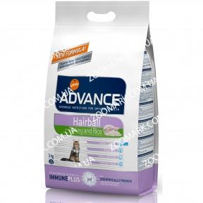 Advance Hairball для стерилизованных котов (индейка) 10кг