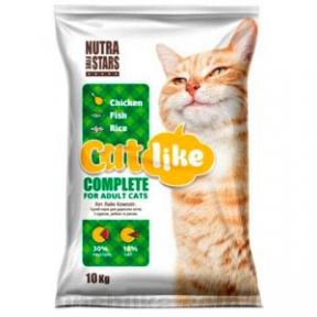 Cat Like Complete микс с рыбой корм для котов 10кг