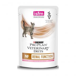 Purina Veterinary Diets NF Renal Function лечебные консервы для кошек при патологии почек, с лососем пауч 85 г