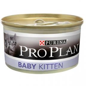 Про План Консервы для котят Baby МУСС с курицей 85г