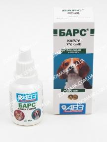 Барс капли ушные АВЗ для собак и кошек 20мл