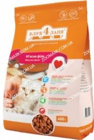 Клуб 4 лапы Мясное филе сухой корм для кошек 11 кг