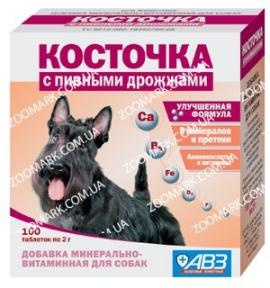Косточка с пивными дрожжами — Минерально-витаминная добавка для собак