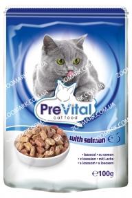 Консерва PreVital с лососем в соусе 100 гр