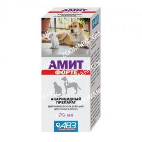 Амит-Форте — для лечения отодектоза 20 мл