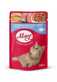 Мяу Рыба консервы для кошек 100 г
