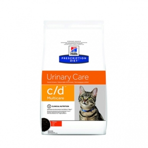Hills PD Feline C/D Multicare с курицей для поддержания здоровья мочевыводящих путей у кошек 1,5кг