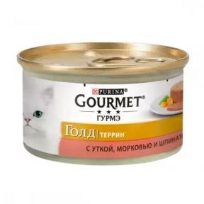 Gourmet Gold с уткой, морковью и шпинатом в паштете