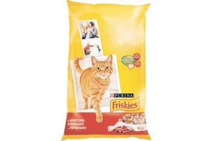 Фрискис для Кошек 10кг мясо, курица, печень