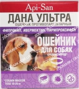 Дана Ультра — ошейник против блох и клещей  для собак