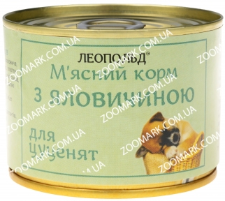 Леопольд для щенков с мясом говядины 190 гр
