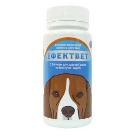 Эффектвет витамины для собак с биотином для шерсти, 100 таблеток Украина