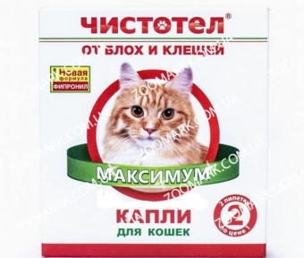Чистотел Инсектал плюс — капли от блох и клещей для кошек