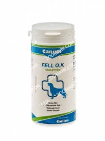 Fell O.K. Canina (Фелл ОК) — пищевая добавка для собак с биотином, 125 таблеток