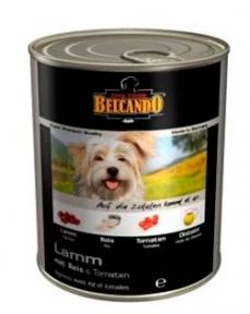 Белкандо Ягненок с рисом и помидорами Консервы для собак 0.8 кг