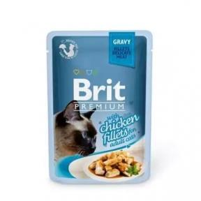 Brit Premium Cat pouch филе курицы в желе 85г
