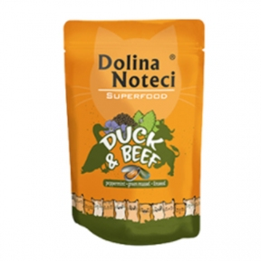 Dolina Noteci Premium Superfood Пауч для котов утка, говядина 85гр 304760