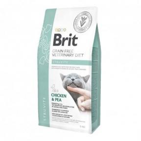 Brit Cat Struvite VetDiets - сухой корм для кошек при лечении и профилактике мочекаменной болезни