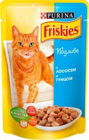 Friskies консерва (Алюпуч ) для кошек лосось тунец в подливке 100 г