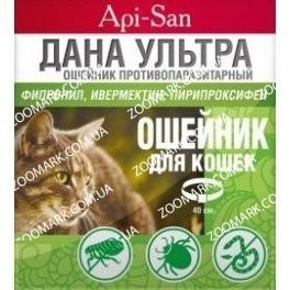 Дана Ультра — ошейник против блох и клещей для кошек