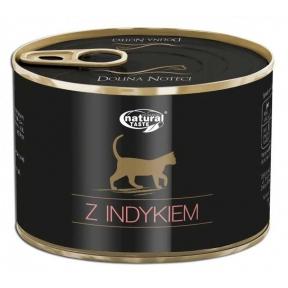 Dolina Noteci Natural Taste Cat мясные кусочки с индейкой Консервы для кошек 185 г