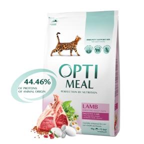 Optimeal с ягненком для котов с чувствительным пищеварением