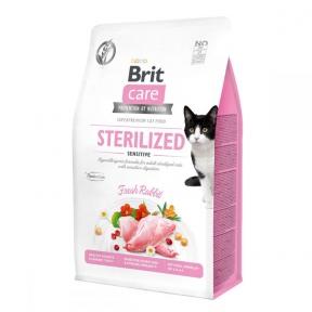 Brit Care Cat Grain-Free Sterilized Sensitive корм для стерилизованных котов с чувствительным пищеварением