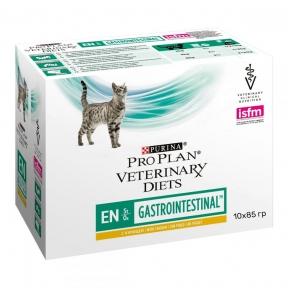 Purina Veterinary Diets EN Gastrointestinal консервы для кошек при расстройствах пищеварения, с курицей пауч 85 г