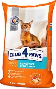 Клуб 4 лапы Премиум для котов с чувствительным пищеварением 14кг