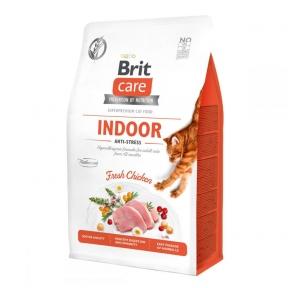 Brit Care Cat GF Indoor Anti-stress 2 кг + лакомство Brit Care Cat