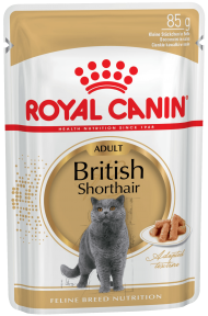 Royal Canin British Shorthair Adult (Роял Канин для кошек породы британская короткошерстная) 85 г
