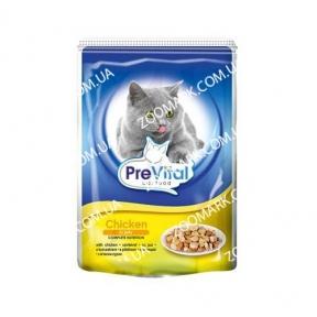 PreVital  Курица в желе консервы для кошек  100г