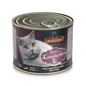 Леонардо Эксклюзив Консервы для котов мясо кролика 200г 756114/756114
