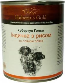 Хубертус Голд Индейка c рисом  Консервы для собак 800 г