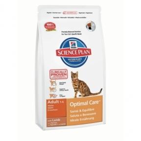 Корм Hills (Хилс) SP Feline Adult Optimal Care для взрослых кошек Lb с ягненком