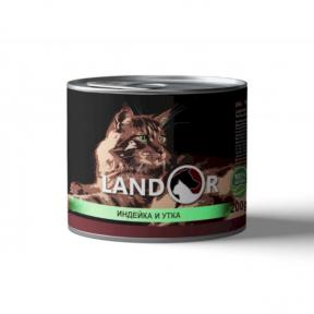 Landor консервы для котят индейка с уткой 200г 539008
