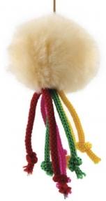 Игрушка для котов Мячик меховой на резинке