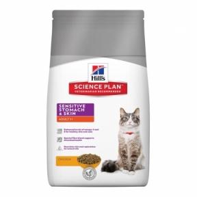 Hills SP Feline Adult Sensitive Stomach & Skin с курицей для кошек с чувствительным пищеварением