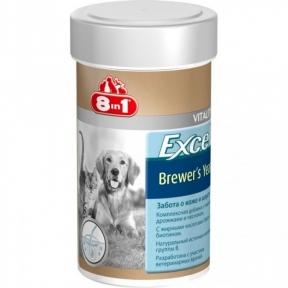 8 in 1 Brewers Yeast (Бреверс) — витамины для собак и котов для шерсти