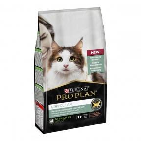 Pro Plan LiveClear Sterilised Salmon Сухой корм для стерилизованных котов для уменьшения аллергенов на шерсти с лососем 1,4 кг