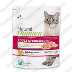Trainer Natural ADULT STERILISED With White Fresh Meats для стерилизованных кошек со свежим белым мясом