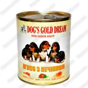 DOG'S GOLD DREAM мясо с печенью 830г